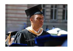 Kareem Abdul-Jabbar at campus procession