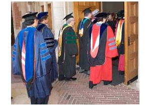 Procession enters Chancellor Block inauguration