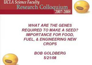 Robert Goldberg lecture on genes seeds and crops Part 1