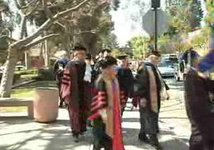 Inauguration procession for UCLA Chancellor Gene D. Block
