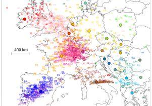 Map of genetic origins