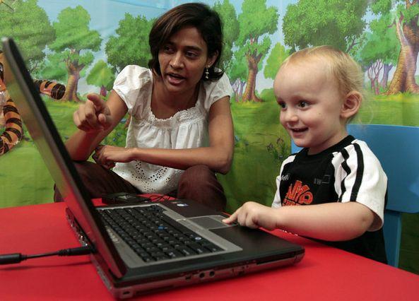 Megha Sundara in language lab