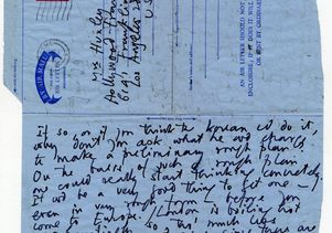 Letter from Aldous Huxley to his wife, Laura
