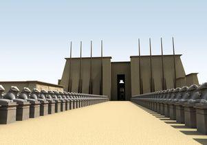 Digital Karnak: Sphinx alleyway