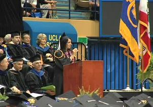 Homaira Hosseini delivers UCLA student commencement address