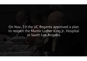 UC Regents approve plan to reopen MLK Hospital