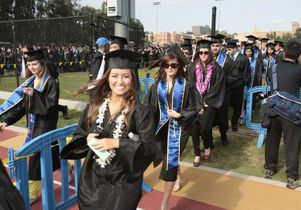 Student procession at 2010 commencement
