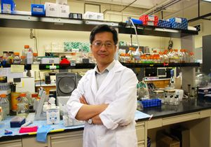James C. Liao in his lab