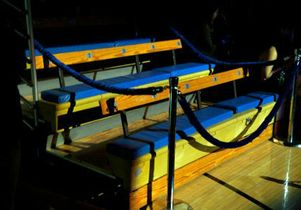 John Wooden's seat in Pauley Pavilion