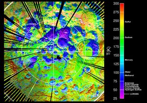 LRO lunar surface temperature map