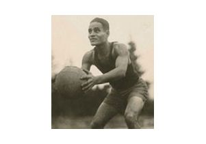Ralph Bunche playing basketball