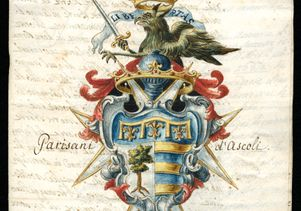 Parisani d'Ascoli coat of arms (1747)