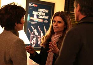 Maria Shriver backstage at Peace Corps anniversary panel