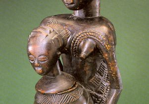 Divination bowl figure