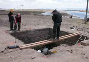 Stanish at excavation site