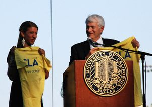 UCLA Chancellor Gene Block and Emily Resnick
