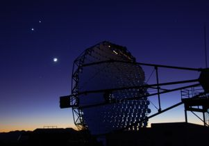 One of the four VERITAS telescope reflectors