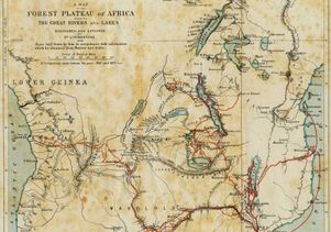 Map of Central Africa in Livingstone's day