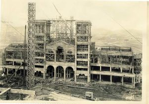Royce Hall under construction