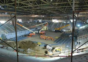 Pauley Pavilion construction