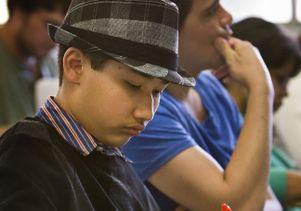 Moshe Kai Cavalin in class