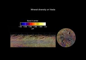 Global mineral map of Vesta