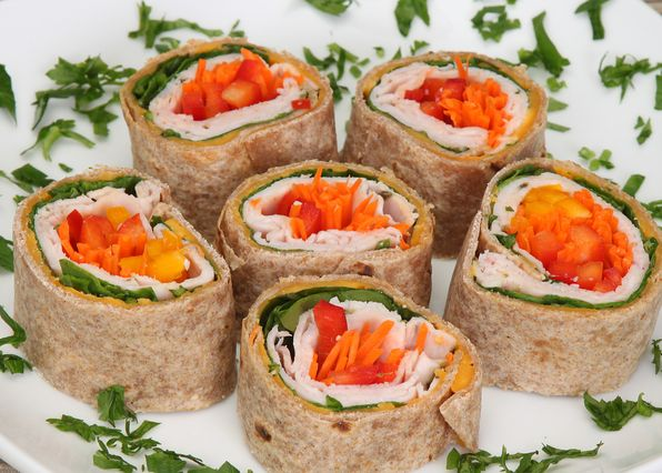 Rainpow pinwheels (recipe from 'Eat Your Vegetables')