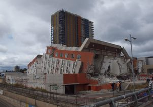Collapsed building, Chile