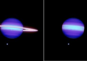 Hypothetical: Saturn with and without rings