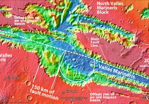 View of central segment of Mars' Valles Marineris
