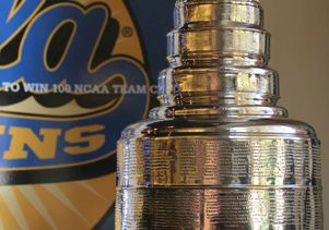 Stanley Cup at UCLA closeup