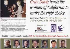 Gray Davis mailer, 2002
