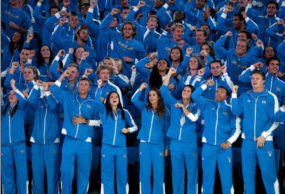 Athletes parade in new Pauley Pavilion