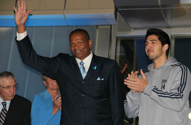 Marques Johnson at Pauley opening