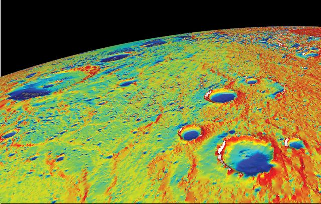 Ucla Researchers Find Evidence For Water Ice Deposits And