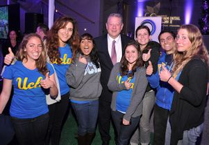 IoES students with Al Gore