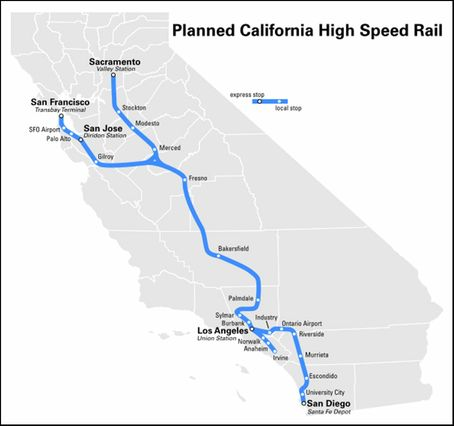 Planned Calif. high-speed rail