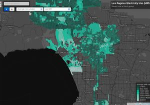 The first highly interactive map of Los Angeles' electricity use