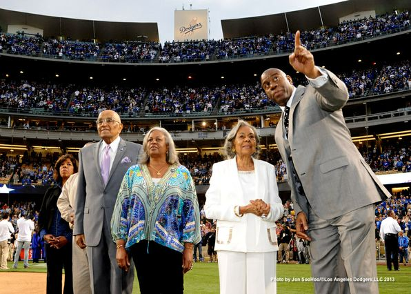 Rachel Robinson at Dodger Stadium