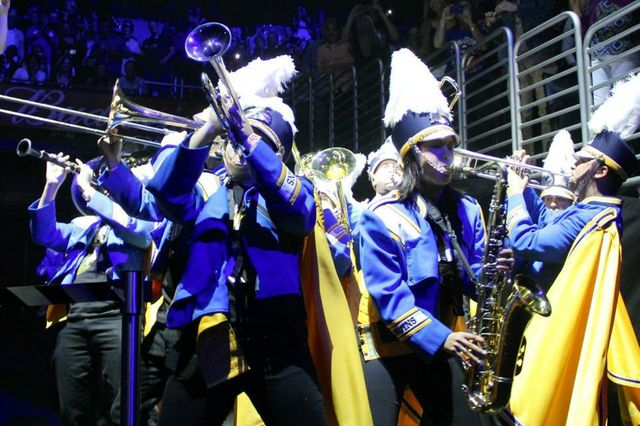 UCLA Marching Band opens for Rolling Stones