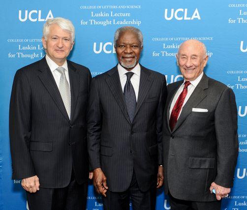 Chancellor Block Kofi Annan and Meyer Luskin