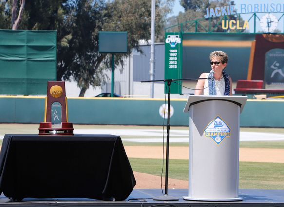 Rhea Turteltaub at baseball celebration