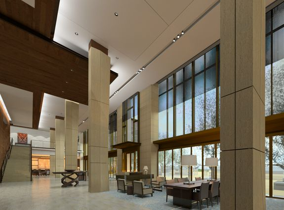Luskin Center lobby rendering