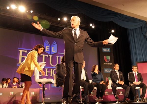 Jorge Ramos leads Univision panel