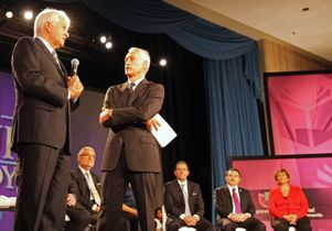 Chancellor Block and Jorge Ramos