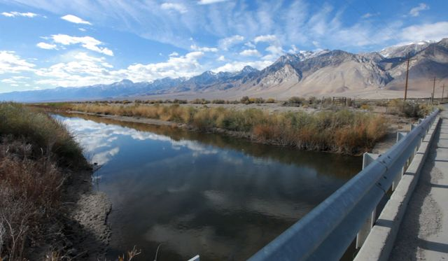 Los Angeles Aqueduct in Owens Valley