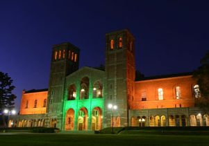 Royce Hall in green