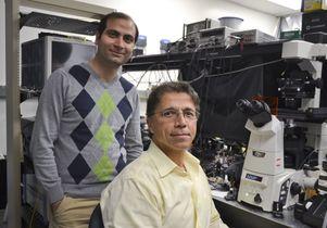 UCLA's Mohammad Asghari (left) with Professor Bahram Jalali