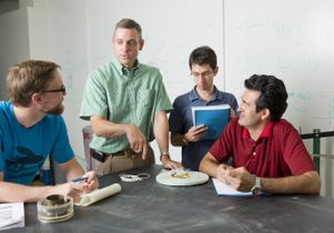 Jonathan P. Stewart with graduate students