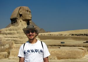Egypt - Babak Aminitehani at the Sphinx